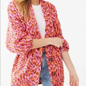 NWT colorful Forever 21 boyfriend cardigan